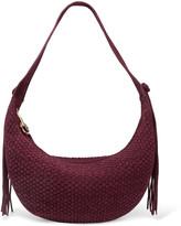 Elizabeth and James Zoe medium tasseled woven suede shoulder bag