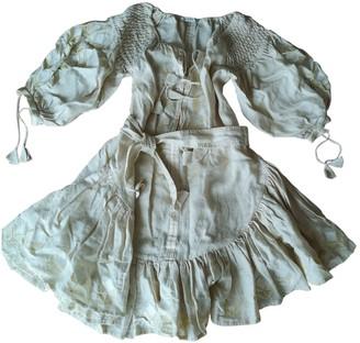 Innika Choo Beige Linen Dress for Women