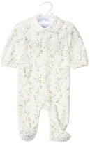 Ralph Lauren Infant Girls' Lace Trimmed Floral Knit Footie - Sizes Newborn-9 Months