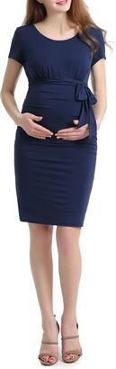 Kimi and Kai Lana Ruched Maternity Dress