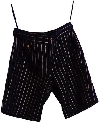 Lauren Ralph Lauren Navy Cloth Shorts for Women