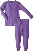 City Threads Thermal Snug Fit PJ Set (Baby) - Deep Purple-3-6 Months