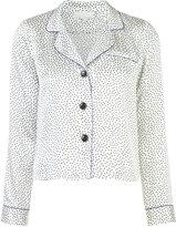 Fleur Du Mal printed pyjama top - women - Silk - XS