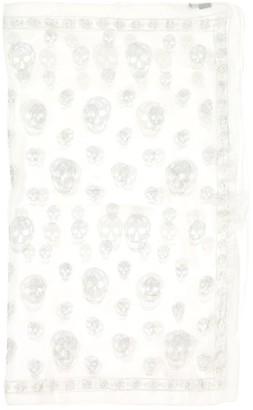 Alexander McQueen White Silk Scarves