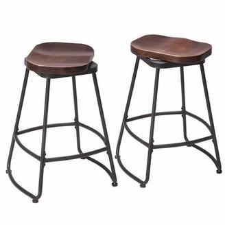 "17 Stories Hendricks Metal Swivel Bar Stool Seat Height: Counter Stool (26"" Seat Height)"