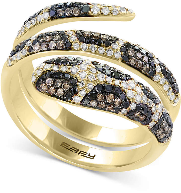 Effy Confetti by Diamond Snake Coil Ring (9/10 ct. t.w.) in 14k Gold