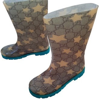 Gucci Beige Rubber Boots