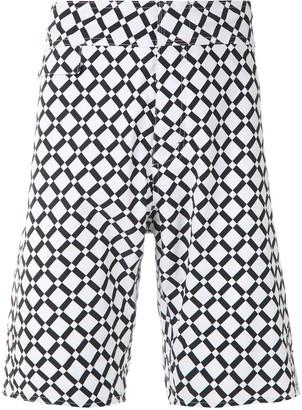AMIR SLAMA Geometric Print Swim Shorts