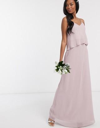 Maids to Measure bridesmaid overlay slip maxi chiffon dress