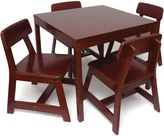 Lipper Kids Square Table and 4 Chairs Set in Cherry