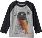 Toddler Boy Star Wars Colorblock Long Sleeve R2-D2 Spectrum Graphic Tee