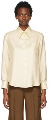 Gucci Beige Silk Twill Shirt