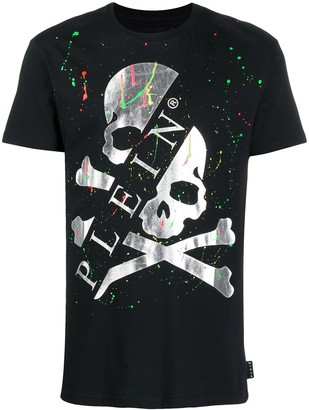 Philipp Plein SS painted skull T-shirt