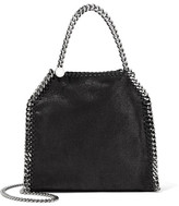 Stella McCartney The Falabella Tiny Faux Brushed-leather Shoulder Bag - Black