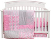 Trend Lab Pink Polka Dot & Stripes Lily Crib Bedding Set