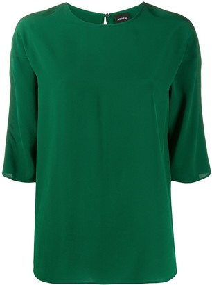Aspesi Silk 3/4 Sleeve Blouse
