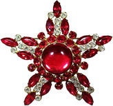 One Kings Lane Vintage Large Red Cabochon Star-Shaped Brooch