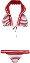 AMIR SLAMA printed halterneck bikini set