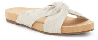 Lucky Brand Fynna Woven Kotted Slide Sandal