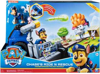 N. Paw Patrol Chase's Ride Rescue Transforming 2-in-1 Playset Police Cruiser