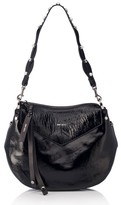 Jimmy Choo Artie Textured Leather Hobo - Black