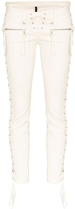 Unravel lace-up skinny trousers
