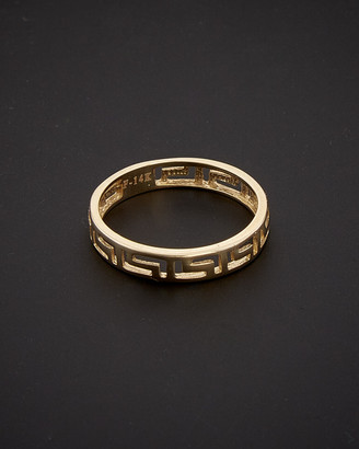 Italian Gold 14K Greek Key Band Ring