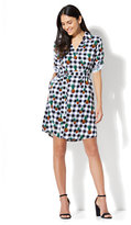 New York & Co. Belted Soft Shirtdress - Gingham Print