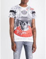 Philipp Plein Crystal-embellished Skull-print T-shirt