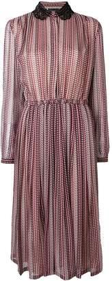 Giambattista Valli Lace Collar Printed Dress