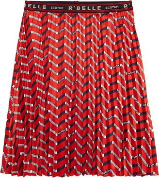 Scotch R'Belle Zigzag Print Skirt