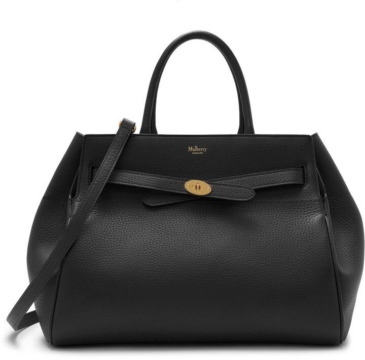 Mulberry Belted Bayswater Black Heavy Grain