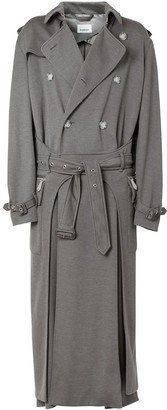 Burberry Cargo Pocket Detail Trench Coat