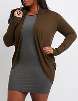 Charlotte Russe Plus Size Shawl Collar Cocoon Cardigan