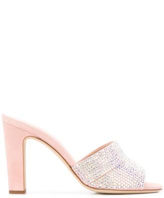 Giuseppe Zanotti Crystal High Heel Mules