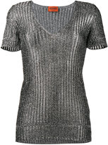 Missoni metallic knitted top - women - Polyester/Rayon - 38