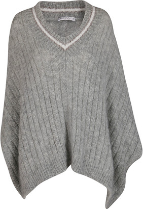 Brunello Cucinelli Light Grey Mohair-wool Blend Jumper