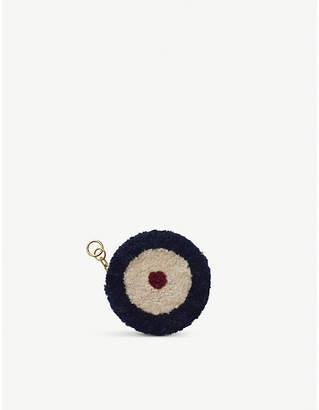 Chaos Target shearling mini purse