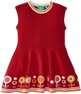 Little Green Radicals Flower Knitted Dress (Baby) - Red-6-9 Months