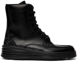 Fendi Black Forever Lace-Up Boots
