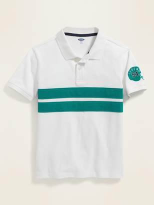 Old Navy Built-In Flex Chest-Stripe Pique Polo for Boys