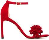 Stuart Weitzman floral applique sandals