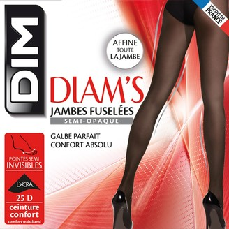 Dim 25 Denier Semi-Opaque Tapered Tights, Made in France