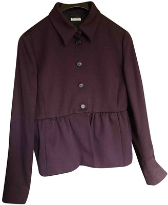 Miu Miu Purple Wool Jacket for Women