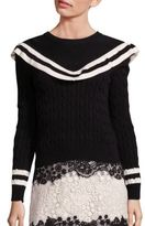RED Valentino Cable-Knit Sweater