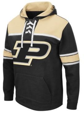 Colosseum Men's Purdue Boilermakers Skinner Hockey Hooded Sweatshirt