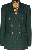 Gucci GG print double-breasted blazer
