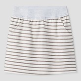 Say What Girls' Striped A Line Skirt - Grey
