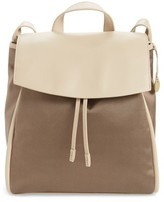 Skagen Ebba Leather & Canvas Backpack - Brown