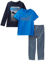 Puma Short Sleeve, Long Sleeve, & Pant Set (Little Boys)